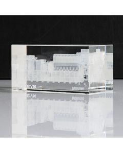 Glaswürfelmodell 16x8x8 cm Glaswürfelmodell 16x8x8 cm gelasert als TCG 2032 V16 mit MWM-Label