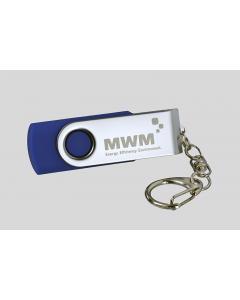 """USB- Stick 2 GB 2.0 inkl. Logogravur """"MWM"""""""