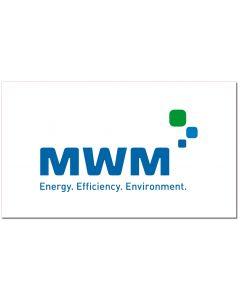 "Aufkleber 21 x 12,16 cm  inkl. 3fbg. Logodruck ""MWM"""