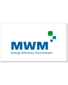 "Aufkleber 15 x 8,69 cm  inkl. 3fbg. Logodruck ""MWM"""