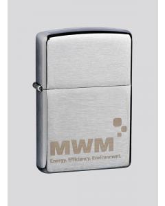 Original Zippo Benzinsturmfeuerzeug mit Gravur MWM Logo