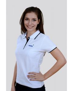 Polo Shirt Damen, Piqué, weiß - Limited Edition
