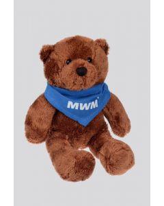 """Bär Ben mit blauem Dreiecktuch inkl. """"MWM"""" Logo"""