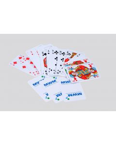 "Skat- Kartenspiel inkl. 3fbg. Logodruck ""MWM"""