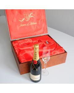 Champagnerbox inkl. Champagner Moet inkl. wertigem Metallplättchen