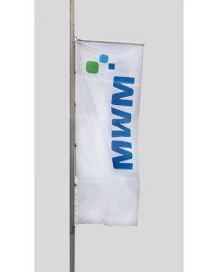 "Hissflagge inkl. Flaggen-Presenter inkl. 3 fbg. Logodruck ""MWM"""